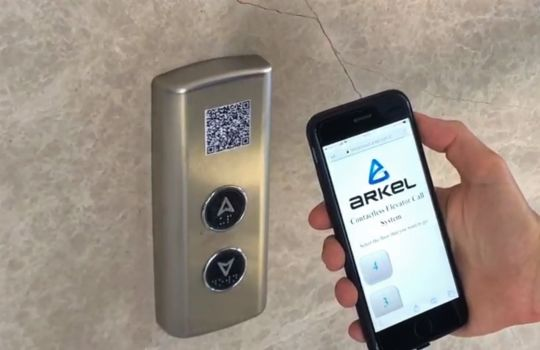 NEW TOUCH-FREE LIFT CALL SYSTEM FROM ARKEL